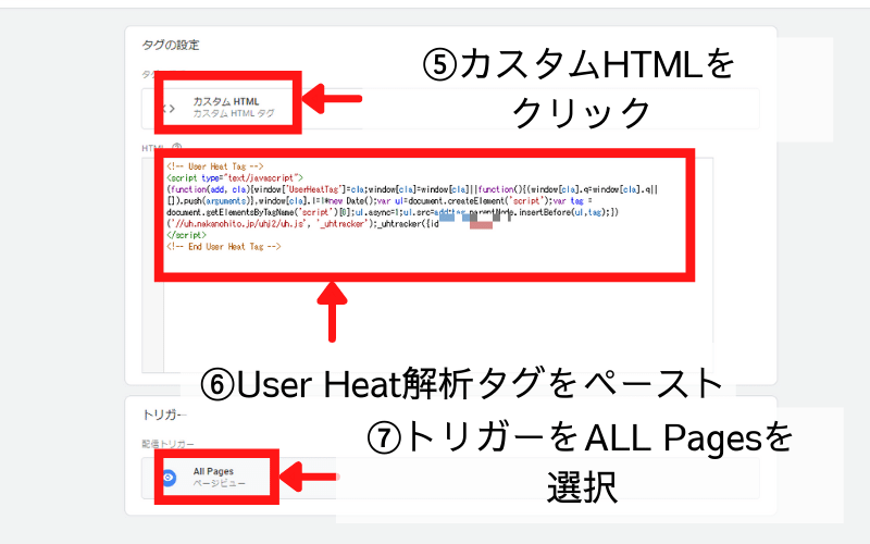User Heat解析タグをペースト